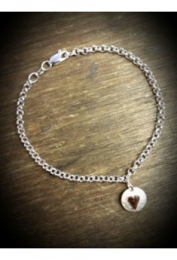 Rose gold and silver bracelet