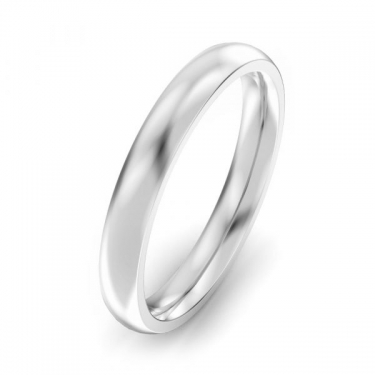 Ladies Palladium 500 heavy court 3mm wedding ring