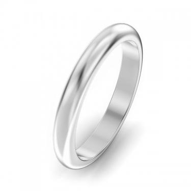 Ladies Palladium 500 3mm D shaped wedding ring