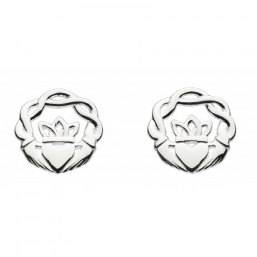 Claddagh Silver Earrings