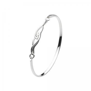Contemporary celtic silver bangle