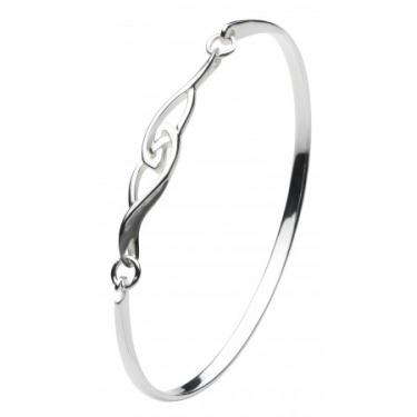 Celtic silver bangle