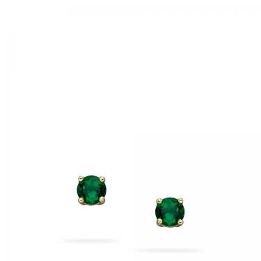 emerald & gold earrings