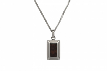 Steel & wood Necklace