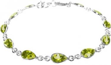 Silver & Peridot Bracelet