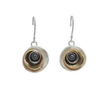 Silver 3 colour earrings