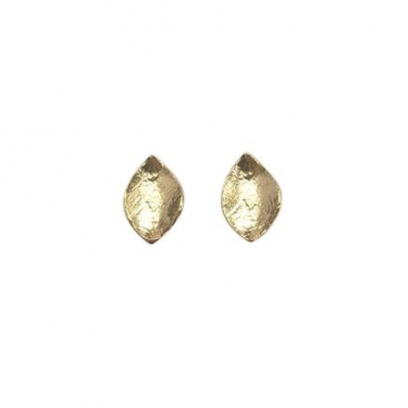 Gold Plated Leaf Studs