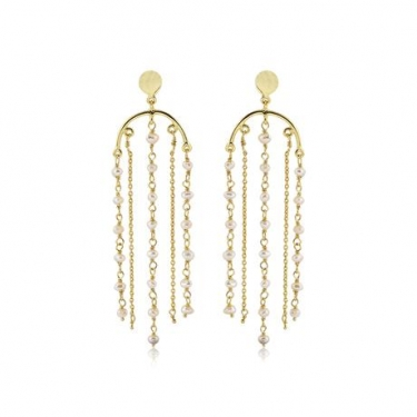 Gold Plated Pearl Earrings
