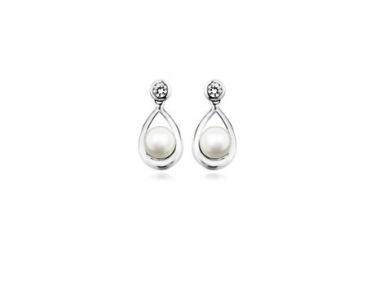 Sterling Silver & Pearl Earrings