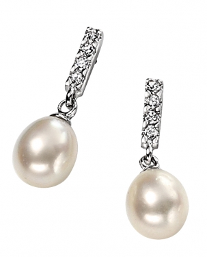 Silver and pearl earrings