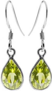 Silver & Peridot Earrings