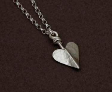 Hand made silver necklace