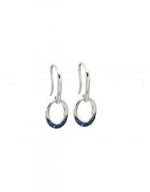 9ct White Gold & Sapphire earrings