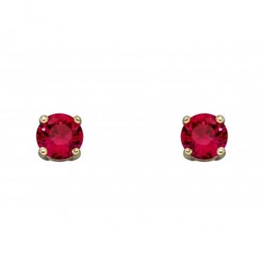 9ct Gold & Ruby Earrings