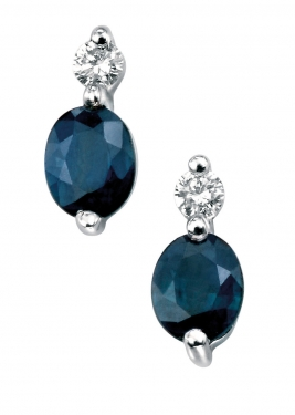 Sapphire and white gold earrings