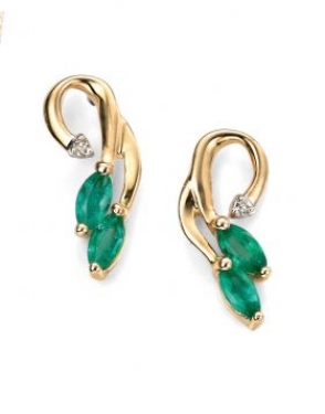 9ct Gold Emerald earrings