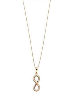 9ct gold infinity neclace