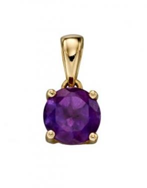 9ct gold amethyst pendant