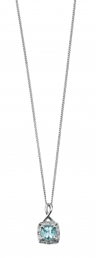 9ct white gold necklace