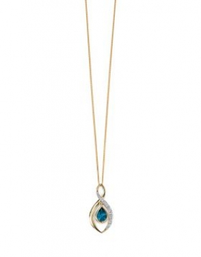 9ct Gold Blue Topaz necklace