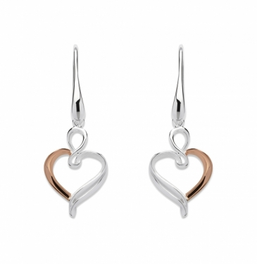 Silver and rose gold plated Earrings