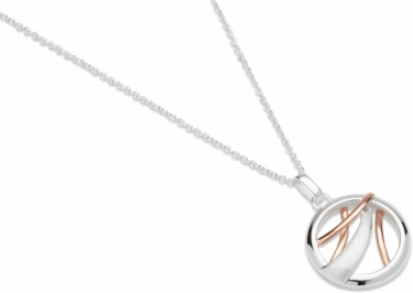 Silver and rose gold plated necklace