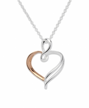 Sterling silver and rose gold plated necklace