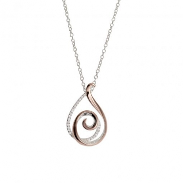 Rose gold and silver necklace