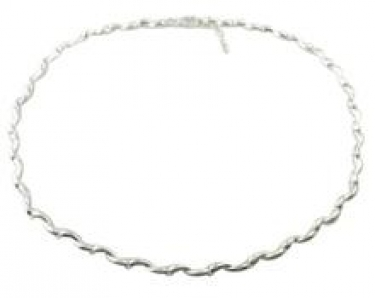 Contemporary silver linked necklace