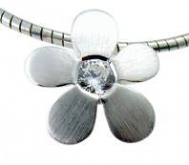 Sterling Silver & Cz Pendant