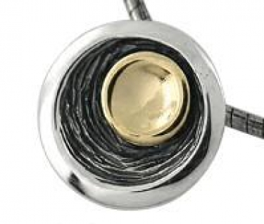 Sterling Silver & Gold Pendant