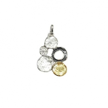 Silver 3 colour pendant