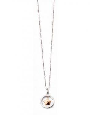 Silver & diamond star necklace
