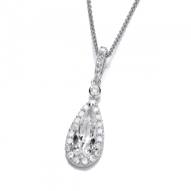 silver cubic zirconia great gatsby necklace