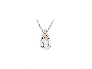 Sterling Silver & Rose Gold Pendant
