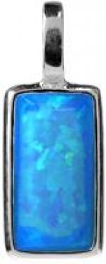 Silver opalique necklace