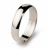 Palladium wedding ring