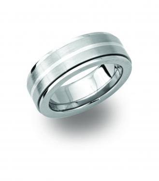 Steel & silver ring