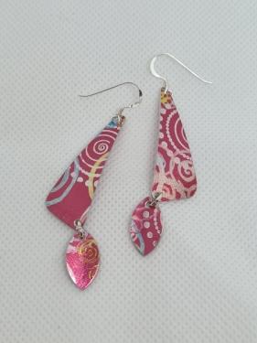 Aluminium Rose Earrings