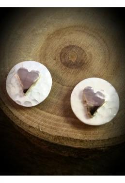 Silver & Rose Gold Earrings