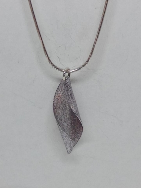 Anodised aluminium and silver necklace