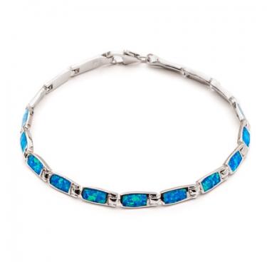 Silver Opalique Bracelet